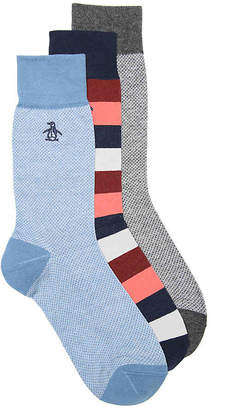 Original Penguin Colorblock Stripe Crew Socks - 3 Pack - Men's