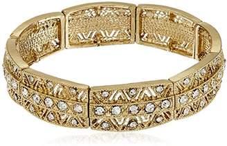 1928 Jewelry -Tone Crystal Stretch Bracelet