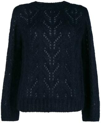 Semi-Couture Semicouture perforated detail sweater