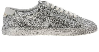 Saint Laurent Sneakers Laced Sneakers In Glitter Fabric