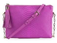 GiGi New York Hailey Python Leather Crossbody Bag