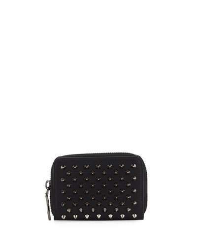 Christian Louboutin  Christian Louboutin Panettone Spiked Coin Purse, Black/Gunmetal