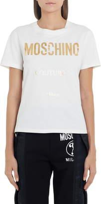 Moschino Metallic Logo Tee