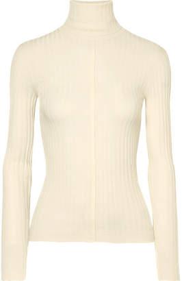 Chloé Ribbed Wool Turtleneck Sweater - Cream