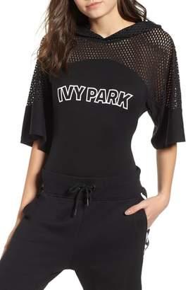 Ivy Park R) Mesh Panel Hoodie Bodysuit