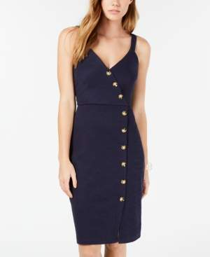 BCX Juniors' Button-Trimmed Midi Dress