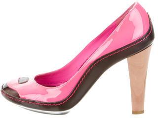 CelineCéline Patent Leather Round-Toe Pumps
