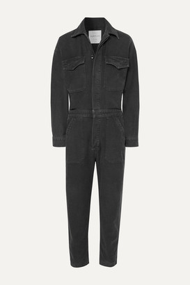 Citizens of Humanity Marta Cropped Denim Jumpsuit - Black