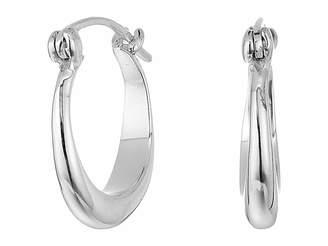 Shinola Detroit Sterling Silver Small Crescent Hoop Earrings