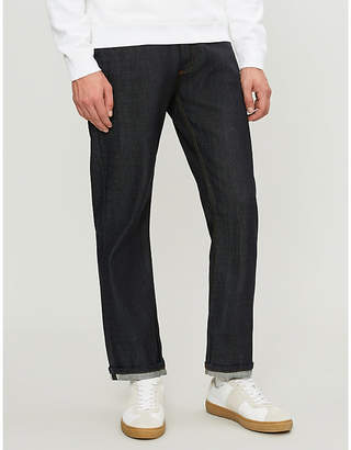 Sandro Washed regular-fit straight-leg jeans