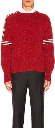 Thom Browne Mohair Tweed Classic Crewneck Pullover