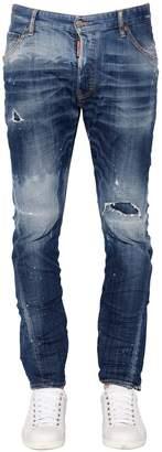DSQUARED2 16.5cm Kenny Twist Stretch Denim Jeans