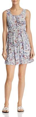 Aqua Floral Paisley Fit-and-Flare Dress - 100% Exclusive