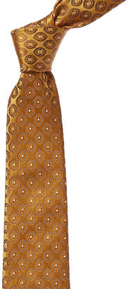 Canali Yellow Paisley Silk Tie