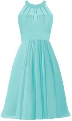 Tiffany & Co. DaisyFormals reg; Halter Orange Party Dress Short Bridesmaids Dress (CST2232 Blue