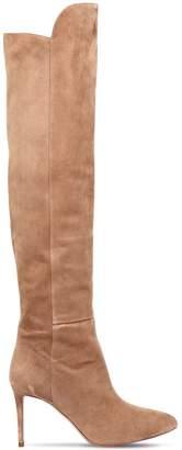 Aquazzura 85mm Suede Over The Knee Boots