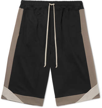 Rick Owens Wide-Leg Loopback Cotton-Blend Jersey Shorts