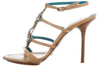 Le Silla Embellished Ankle Strap Sandals