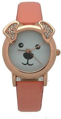 OLIVIA PRATT Olivia Pratt Dog Unisex Gold Tone Strap Watch-H10046peach