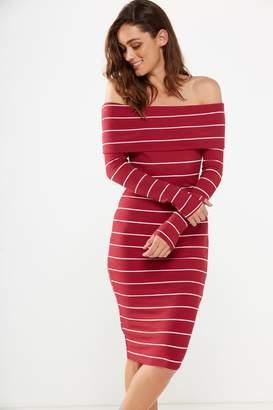 Cotton On Alisa Long Sleeve Off The Shoulder Dress