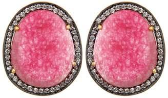 Carousel Jewels - Pink Aventurine & Crystal Earrings
