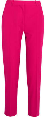 Stella McCartney Octavia Cropped Wool-twill Tapered Pants - Fuchsia