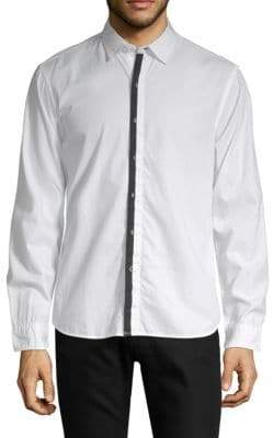 Long-Sleeve Contrast Shirt