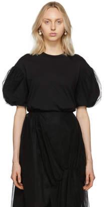 Simone Rocha Black Tulle Puff Sleeve T-Shirt