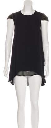 3.1 Phillip Lim Embellished Sleeve Asymmetrical Mini Dress Black Embellished Sleeve Asymmetrical Mini Dress