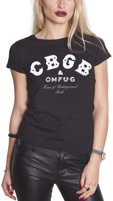 CBGB & OMFUG and OMFUG T Shirt Home of Underground Rock Official Womens Skinny Fit