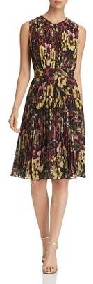 Catherine Malandrino Desree Pleated Floral-Print Dress