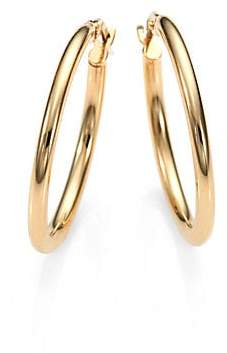 Roberto Coin Women's 18K Yellow Gold Oval Hoop Earrings/1""
