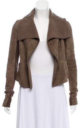 Rick Owens Shearling Open Front Jacket