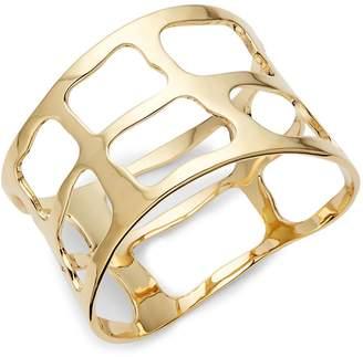 Robert Lee Morris Women's Plaid Wide Bangle Bracelet