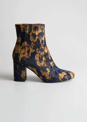 And other stories Jacquard Ankle Boots