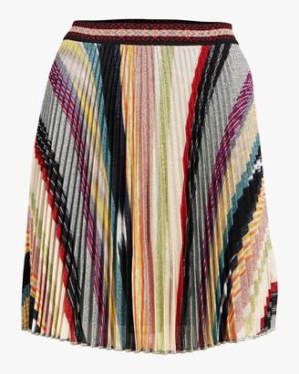 Missoni Rainbow Lurex Plisse Mini Skirt