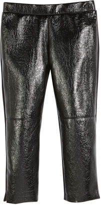 Milly Minis Faux-Leather Front Panel Leggings, Size 8-16