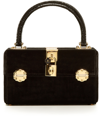 DOLCE & GABBANA Dolce Box Vanity velvet bag $3,245 thestylecure.com