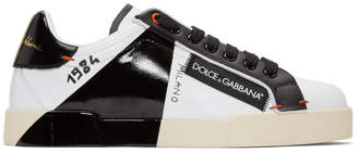Dolce & Gabbana Black and White 1984 Portofino Sneakers