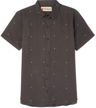 Mollusk Printed Linen And Cotton-Blend Shirt