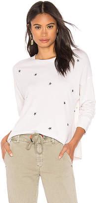 Sundry Stars + Hearts Hi Low Crew Sweatshirt
