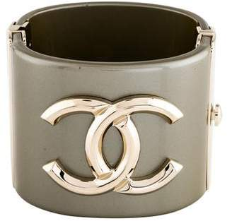 733deaf03d9 Pre-Owned at TheRealReal · Chanel Resin CC Hinged Bangle