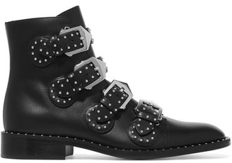Givenchy - Studded Leather Ankle Boots - Black $1,395 thestylecure.com