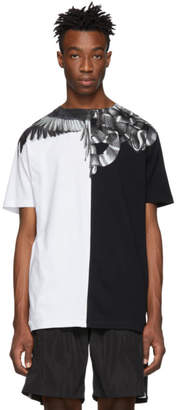 Marcelo Burlon County of Milan Black and Silver Snakes Wings T-Shirt