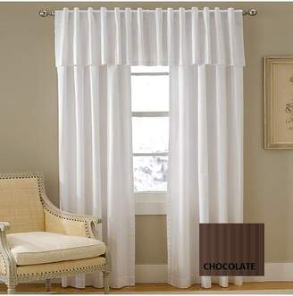 Charter Club Damask Stripe Chocolate (Brown) Window Valance