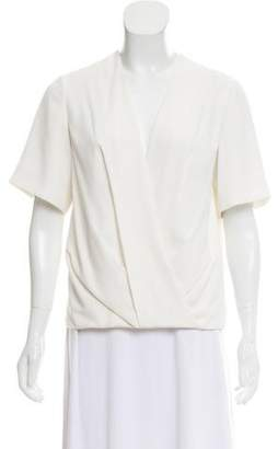 Alexander Wang Pleated Crossover Blouse
