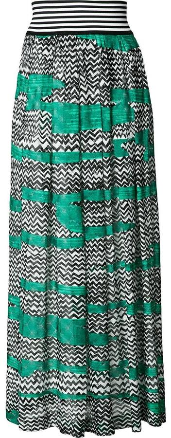 MissoniMissoni long printed skirt
