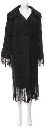 Gucci Wool-Blend Fringe Coat