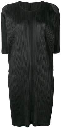 Pleats Please Issey Miyake short-sleeve shift dress