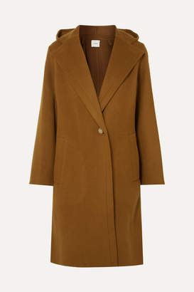 Vince Hooded Wool-blend Coat - Brown